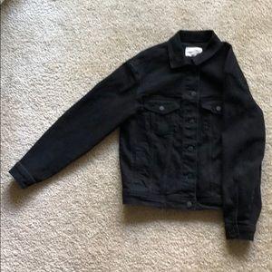 Black denim-style jacket